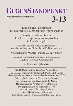GegenStandpunkt 3-13 von GegenStandpunkt Verlag München