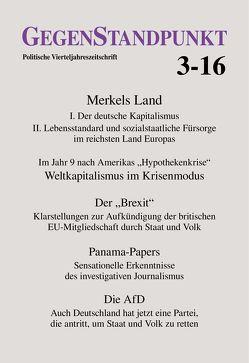 GegenStandpunkt 3-16 von GegenStandpunkt Verlag München
