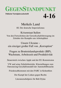 GegenStandpunkt 4-16 von GegenStandpunkt Verlag München