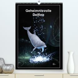 Geheimnisvolle Delfine (Premium, hochwertiger DIN A2 Wandkalender 2021, Kunstdruck in Hochglanz) von Franz,  Gerhard