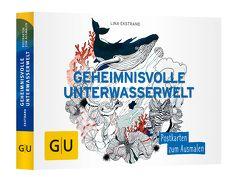 Geheimnisvolle Unterwasserwelt: Postkartenbuch zum Ausmalen