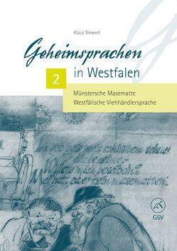 Geheimsprachen in Westfalen Band 2 von Siewert,  Klaus