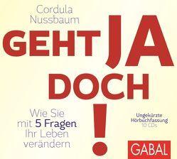 Geht ja doch! von Grawe,  Susanne, Nussbaum,  Cordula, Piedesack,  Gordon