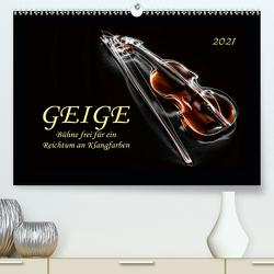 Geige – Bühne frei für ein Reichtum an Klangfarben (Premium, hochwertiger DIN A2 Wandkalender 2021, Kunstdruck in Hochglanz) von Roder,  Peter