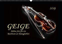 Geige – Bühne frei für ein Reichtum an Klangfarben (Wandkalender 2019 DIN A3 quer) von Roder,  Peter