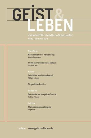 Geist & Leben 2/2018 von Benke,  Christoph