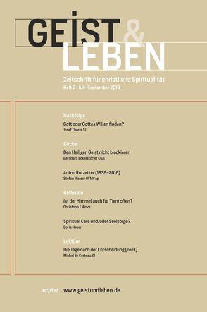 Geist & Leben 3/2016 von Benke,  Christoph