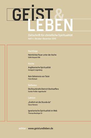 Geist & Leben 4/2015 von Benke,  Christoph