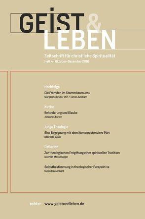 Geist & Leben 4/2016 von Benke,  Christoph