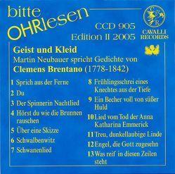 Geist und Kleid von Brentano,  Clemens, Neubauer,  Martin