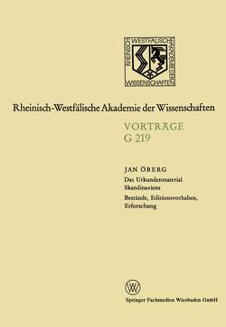 Geisteswissenschaften von Öberg,  Jan