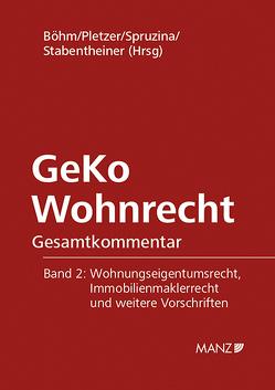 GeKo Wohnrecht SUBSKRIPTIONSPREIS bis 10. Mai 2019 von Böhm,  Helmut, Pletzer,  Renate, Spruzina,  Claus, Stabentheiner,  Johannes