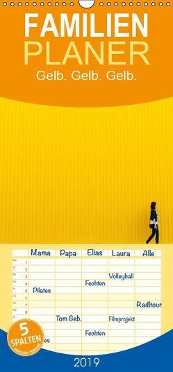 Gelb. Gelb. Gelb. – Familienplaner hoch (Wandkalender 2019 , 21 cm x 45 cm, hoch) von Matschek,  Gerd