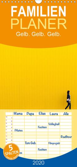 Gelb. Gelb. Gelb. – Familienplaner hoch (Wandkalender 2020 , 21 cm x 45 cm, hoch) von Matschek,  Gerd