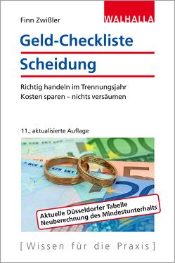 Geld-Checkliste Scheidung von Zwißler,  Finn