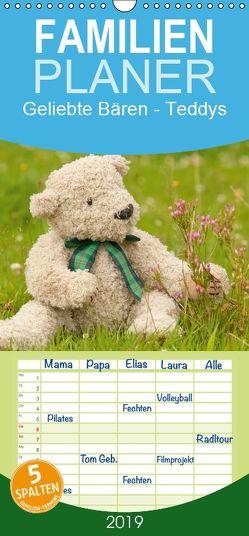 Geliebte Bären – Teddys – Familienplaner hoch (Wandkalender 2019 , 21 cm x 45 cm, hoch) von Bölts,  Meike