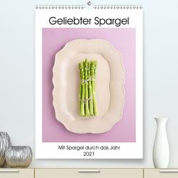 Geliebter Spargel (Premium, hochwertiger DIN A2 Wandkalender 2021, Kunstdruck in Hochglanz) von Cölfen,  Elisabeth
