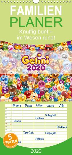 Gelini – Familienplaner hoch (Wandkalender 2020 , 21 cm x 45 cm, hoch) von Media GmbH,  KIDDINX