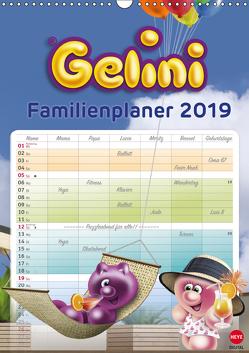 Gelini Familienplaner (Wandkalender 2019 DIN A3 hoch) von Media GmbH,  KIDDINX