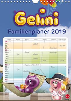 Gelini Familienplaner (Wandkalender 2019 DIN A4 hoch) von Media GmbH,  KIDDINX