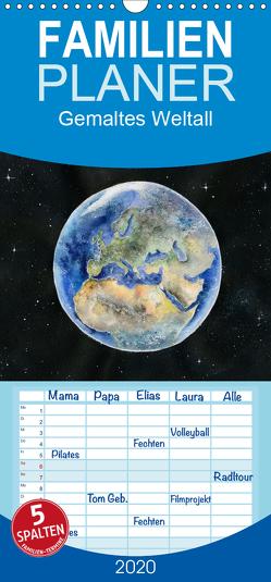 Gemaltes Weltall – Familienplaner hoch (Wandkalender 2020 , 21 cm x 45 cm, hoch) von Krause,  Jitka