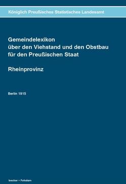 Gemeindelexikon über den Viehstand und den Obstbau.