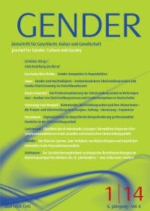GENDER 1/2014 Gleichstellung als Beruf von Schlüter,  Anne