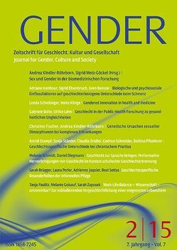 GENDER 2/2015 von Kindler-Röhrborn,  Andrea, Metz-Göckel,  Sigrid