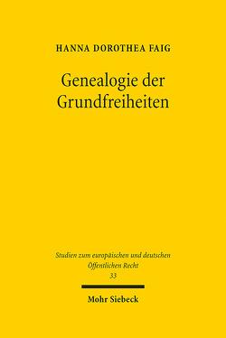 Genealogie der Grundfreiheiten von Faig,  Hanna Dorothea