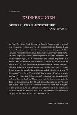 General der Panzertruppen Hans Cramer – Erinnerungen von Kock,  Oliver