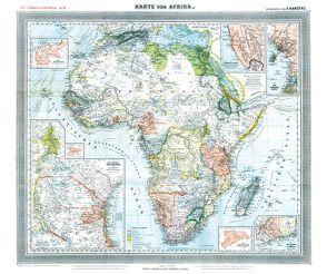 General-Karte von AFRIKA, 1890 [gerollt] von Handtke,  Friedrich, Rockstuhl,  Harald