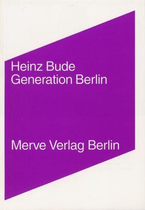 Generation Berlin von Bude,  Heinz