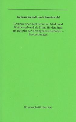 Genossenschaft und Gemeinwohl von Blisse,  Holger