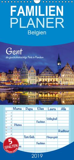 Gent – die geschichtsträchtige Perle in Flandern – Familienplaner hoch (Wandkalender 2019 , 21 cm x 45 cm, hoch) von Müller,  Christian