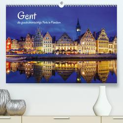 Gent – die geschichtsträchtige Perle in Flandern (Premium, hochwertiger DIN A2 Wandkalender 2021, Kunstdruck in Hochglanz) von Müller,  Christian