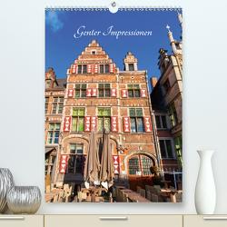 Genter Impressionen (Premium, hochwertiger DIN A2 Wandkalender 2021, Kunstdruck in Hochglanz) von Müller,  Christian