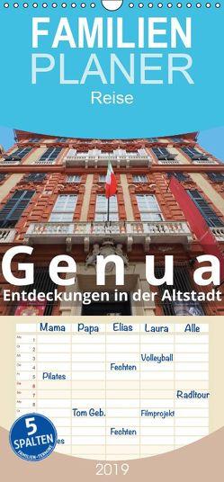 Genua, Entdeckungen in der Altstadt – Familienplaner hoch (Wandkalender 2019 , 21 cm x 45 cm, hoch) von J. Richtsteig,  Walter