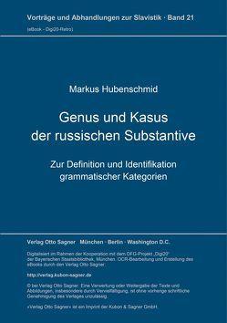 Genus und Kasus der russischen Substantive von Hubenschmid,  Markus