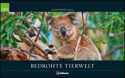 GEO Bedrohte Tierwelt 2022 – Wand-Kalender – Tier-Kalender – Poster-Kalender – 58×36