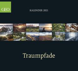 GEO Klassiker: Traumpfade 2021 – Wand-Kalender – Reise-Kalender – 60×55