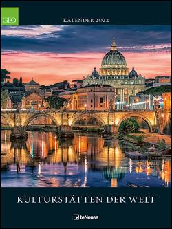 GEO Kulturstätten der Welt 2022 – Wand-Kalender – Reise-Kalender – Poster-Kalender – 48×64
