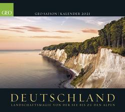 GEO SAISON: Deutschland 2021 – Wand-Kalender – Poster-Kalender – Landschafts-Fotografie – 50×45
