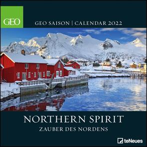 GEO SAISON Northern Spirit 2022 – Wand-Kalender – Broschüren-Kalender – 30×30 – 30×60 geöffnet