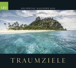 GEO SPECIAL: Traumziele 2021 – Wand-Kalender – Reise-Kalender – Poster-Kalender – 50×45