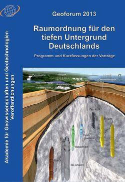Geoforum 2013: Raumordnung für den tiefen Untergrund Deutschlands von Wellmer,  Friedrich-Wilhelm