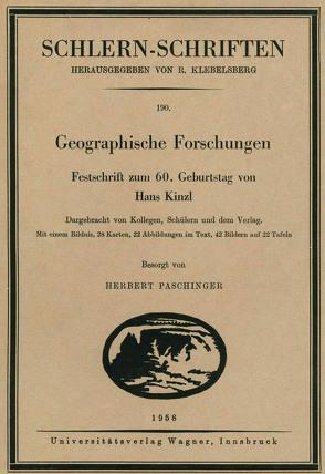 Geographische Forschungen von Paschinger,  Herbert