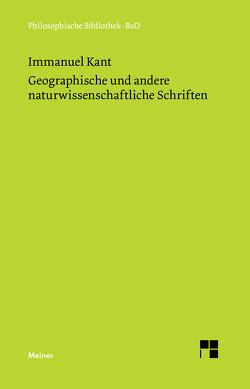 Geographische und andere naturwissenschaftliche Schriften von Kant,  Immanuel, Zehbe,  Jürgen
