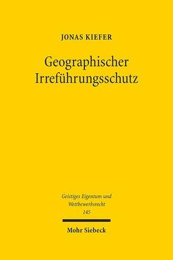 Geographischer Irreführungsschutz von Kiefer,  Jonas