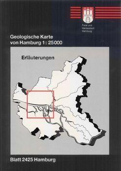 Geologische Karte von Hamburg – Blatt 2425 Hamburg von Ehlers,  Jürgen