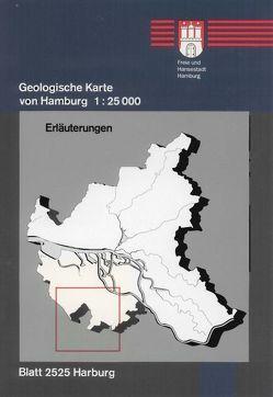 Geologische Karte von Hamburg – Blatt 2525 Harburg von Ehlers,  Jürgen
